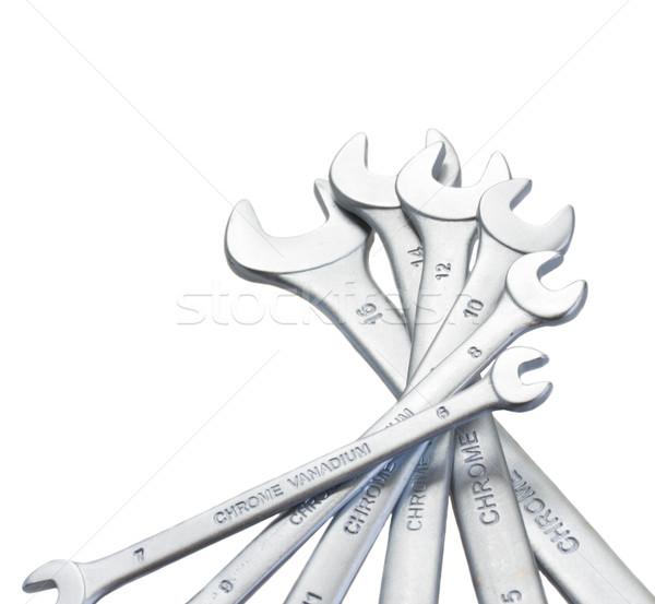 Set of  metalic wrenches Stock photo © neirfy
