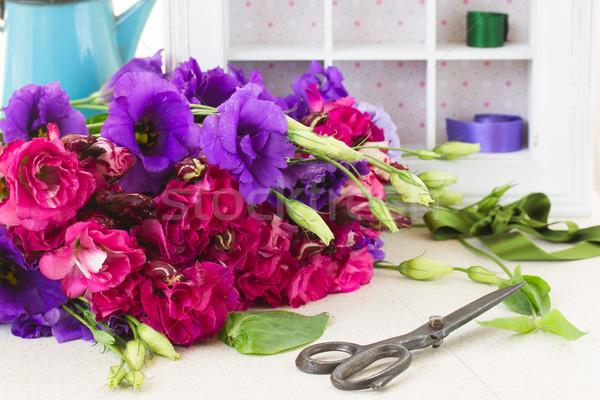 Mor leylak rengi çiçekler taze mor Stok fotoğraf © neirfy