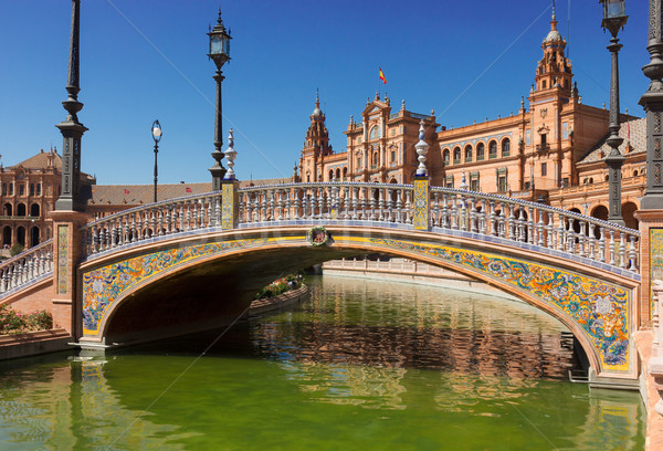 bridge of  Plaza de Espana, Seville, Spain Stock photo © neirfy