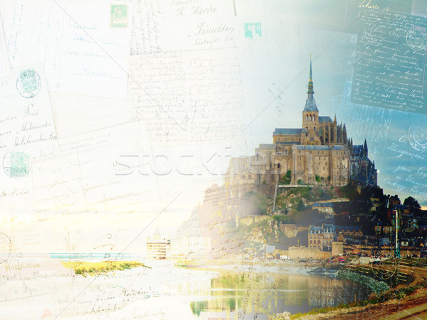 Mont St Michel at sunset , France Stock photo © neirfy