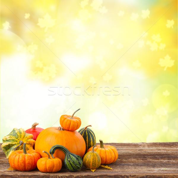 Dynia tabeli pomarańczowy surowy spadek Zdjęcia stock © neirfy