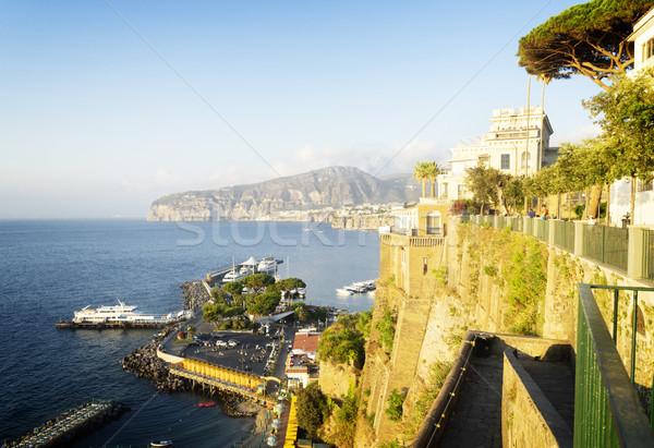 южный Италия пляж небе фон горные Сток-фото © neirfy