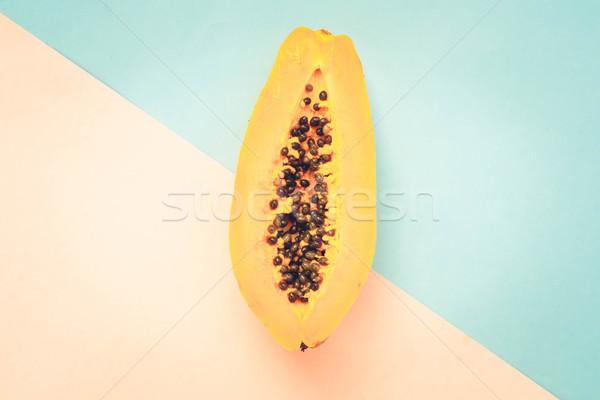 Lata owoce minimalny stylu górę widoku Zdjęcia stock © neirfy