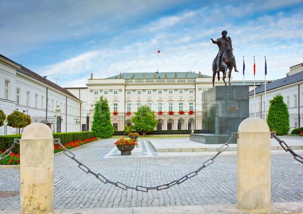 президентский дворец Варшава мнение ретро здании Сток-фото © neirfy