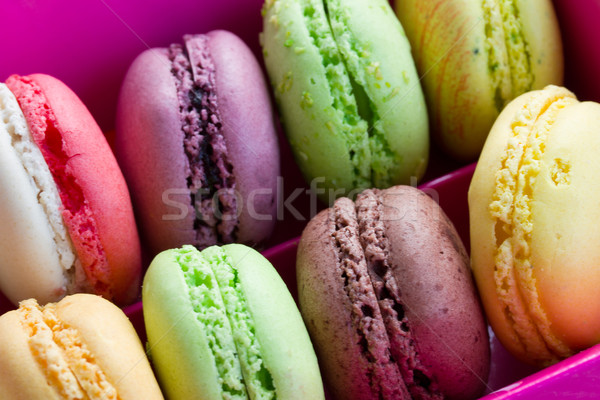 macaroons close up Foto stock © neirfy