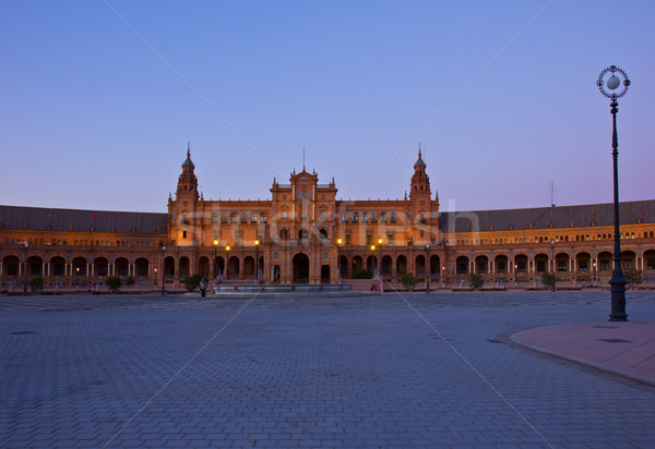 Plaza de España at night, Sevilla Stock photo © neirfy