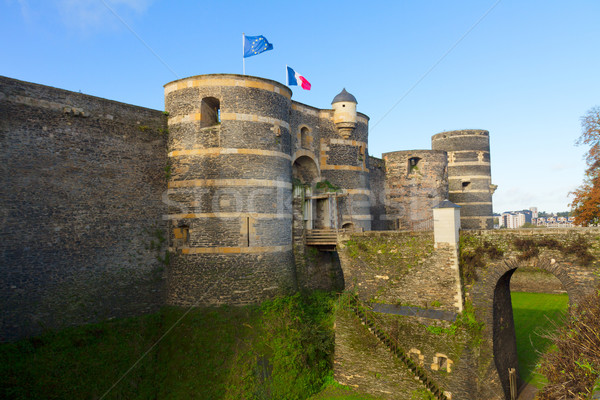 Entrance gate of Angers castle, France Stock photo © neirfy
