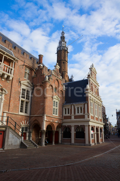 City Hall on the Grote Markt, Haarlem Stock photo © neirfy