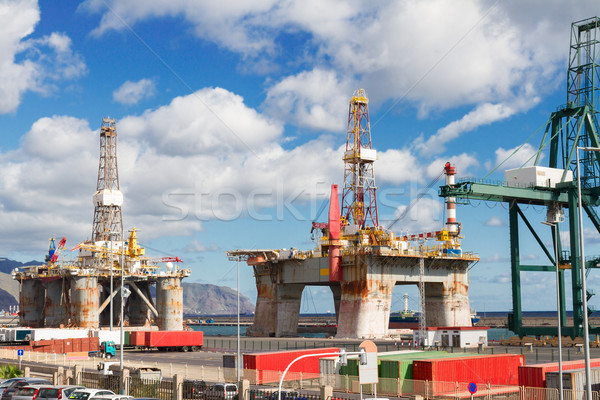 oil platform at port Stock photo © neirfy