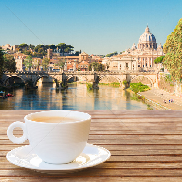 Cup of coffee in Rome Stock photo © neirfy