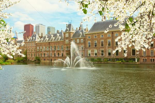 Nederlands parlement Nederland voorjaar kantoor Stockfoto © neirfy
