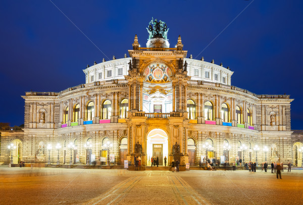 Opera house of Dresden, Germany Stock photo © neirfy