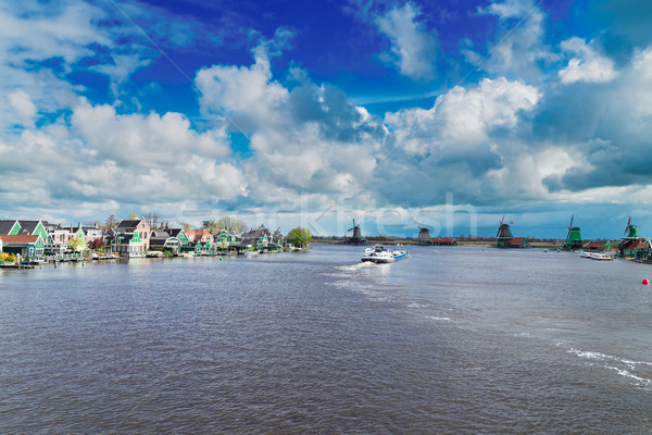 Nederlands wind traditioneel rivier zomer dag Stockfoto © neirfy