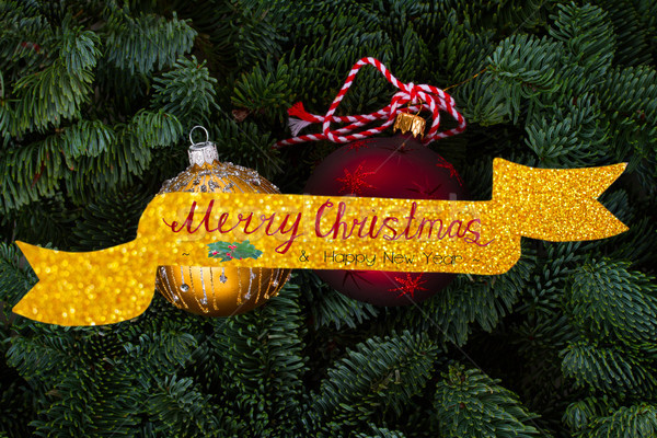 Natale evergreen albero fresche allegro saluto Foto d'archivio © neirfy