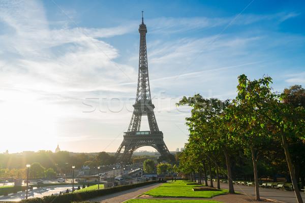 エッフェル ツアー パリ エッフェル塔 ランドマーク 日の出 ストックフォト © neirfy
