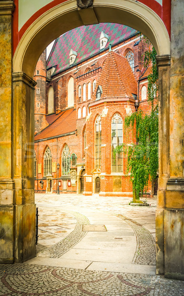 old town of Wroclaw Stock photo © neirfy