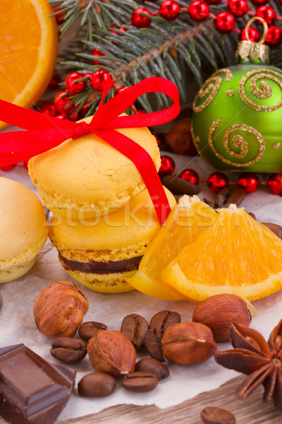 stack of cookies with christmas  decorations Stock photo © neirfy
