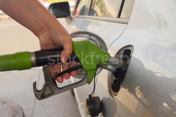 автомобилей топлива стороны насос человека Сток-фото © neirfy