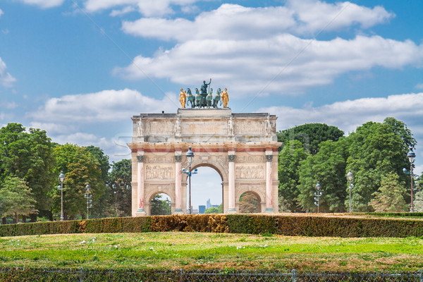 Arc de Triomphe du Carrousel, Paris, Stock photo © neirfy