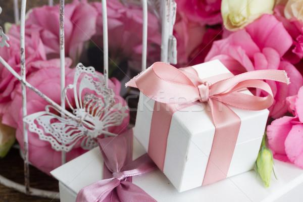 ピンク 白い花 白 新鮮な バラ ストックフォト © neirfy