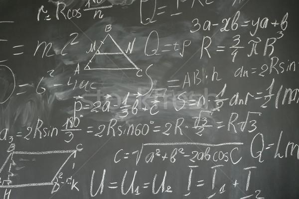 Mathématiques formules écrit blanche craie Photo stock © neirfy