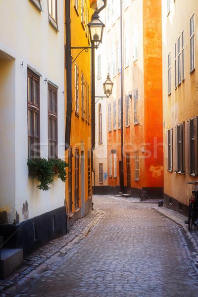 旧市街 通り ストックホルム スウェーデン 道路 ストックフォト © neirfy