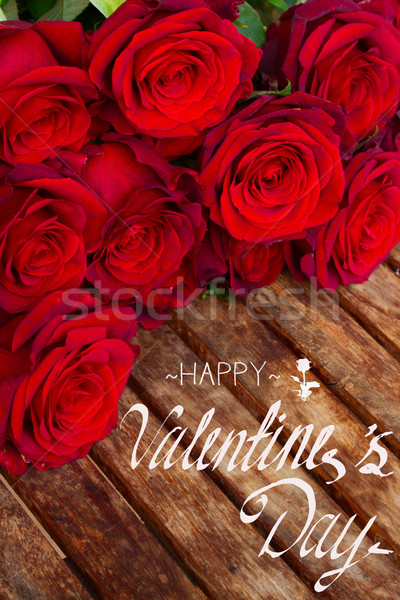 dark red roses  on table Stock photo © neirfy