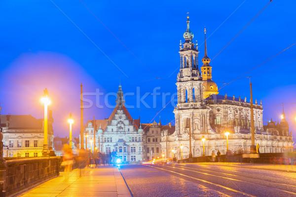 Downtown of Dresden, Germany Stock photo © neirfy