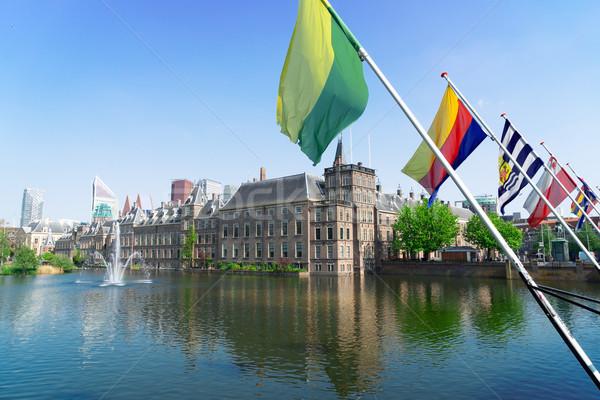 голландский парламент Голландии мнение Нидерланды флагами Сток-фото © neirfy