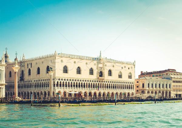 Stock photo: Gondolas and Doge palace, Venice, Italy