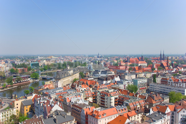 old town of Wroclaw from above Stock photo © neirfy