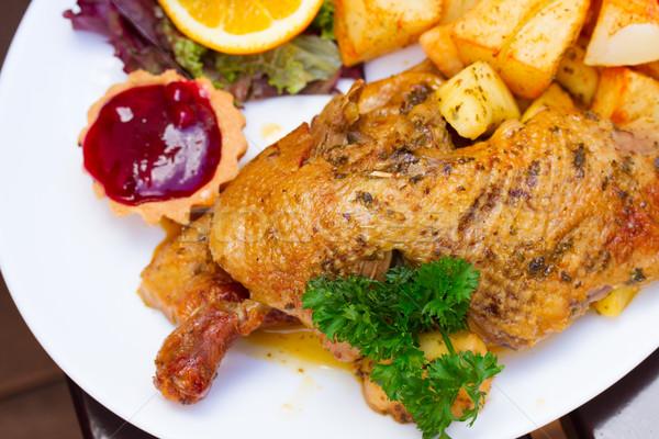 polish national dish - roasted duck  Stock photo © neirfy