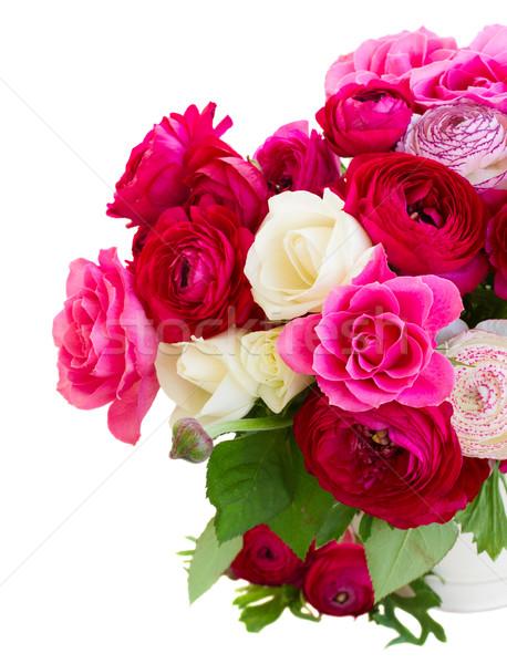 ピンク 花 バラ ポット ストックフォト © neirfy