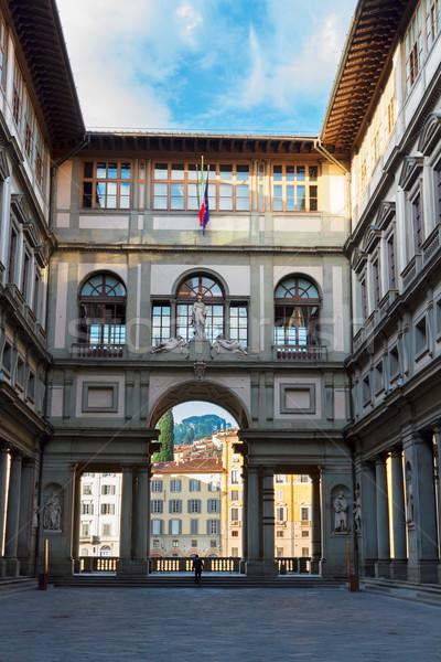 Uffizi museum, Florence, Italy Stock photo © neirfy