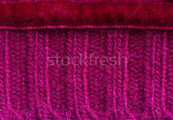 Leylak rengi kazak makro doku örgü yumuşak Stok fotoğraf © neirfy