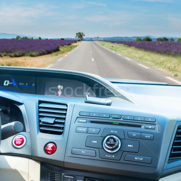 車 ダッシュボード キー 表示 現代 開始 ストックフォト © neirfy