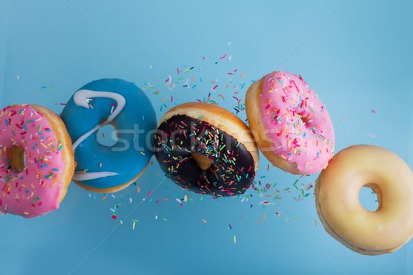 Stock fotó: Repülés · kék · keverék · tarka · édes · fánkok