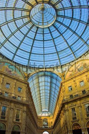 Público compras galería Nápoles techo calle Foto stock © neirfy