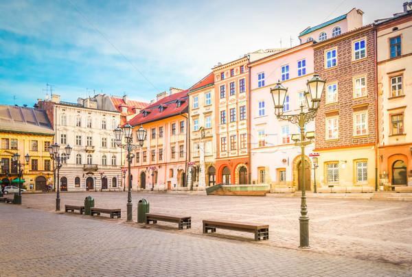 street in old Krakow, Poland Stock photo © neirfy