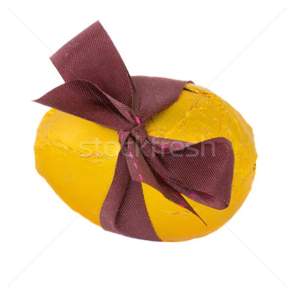 Złote jajka złoty easter egg łuk odizolowany biały Zdjęcia stock © neirfy