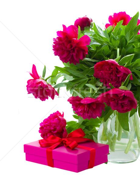 花 ギフトボックス 花瓶 孤立した 白 自然 ストックフォト © neirfy