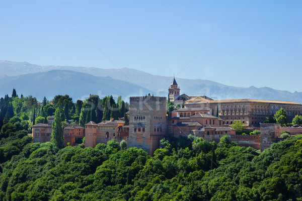 Alhambra palace and mountains Spain Stock photo © neirfy