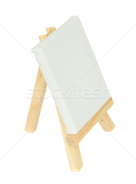 wooden  easel with empty  canvas Stock photo © neirfy