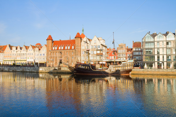 Old town embankment, Gdansk Stock photo © neirfy
