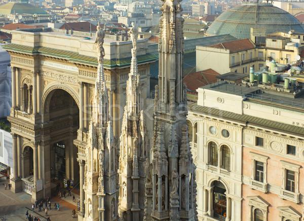 Stockfoto: Milaan · Italië · hemel · gebouw · bouw · kerk