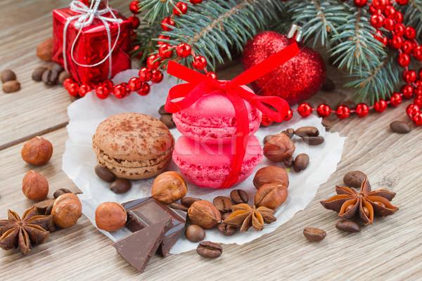 macaroons with christmas tree Stock photo © neirfy