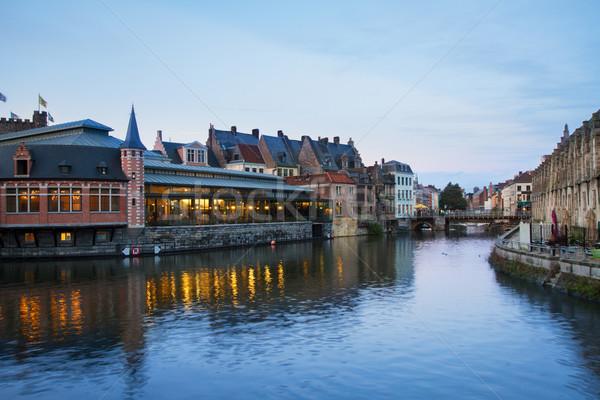 канал старые зданий ночь мнение небе Сток-фото © neirfy