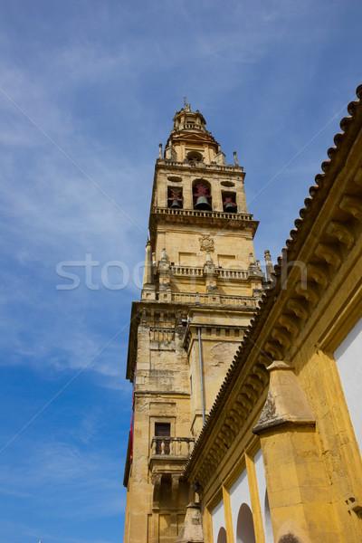 çan kule katedral İspanya minare ağaç Stok fotoğraf © neirfy