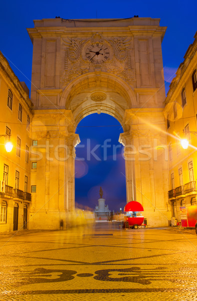 Rua Augusta Arch in Lisbon, Portugal Stock photo © neirfy