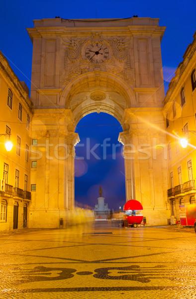 Arco Lisboa Portugal pedra histórico edifício Foto stock © neirfy